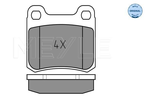 Тормозные колодки задние дисковые MINTEX арт. 025 206 8715