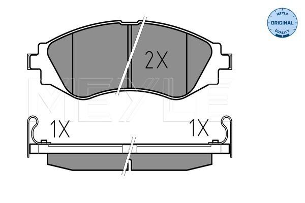 Тормозные колодки передние дисковые MINTEX арт. 025 232 3417/W