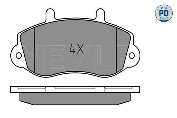 Тормозные колодки передние дисковые MINTEX арт. 025 233 0218/PD