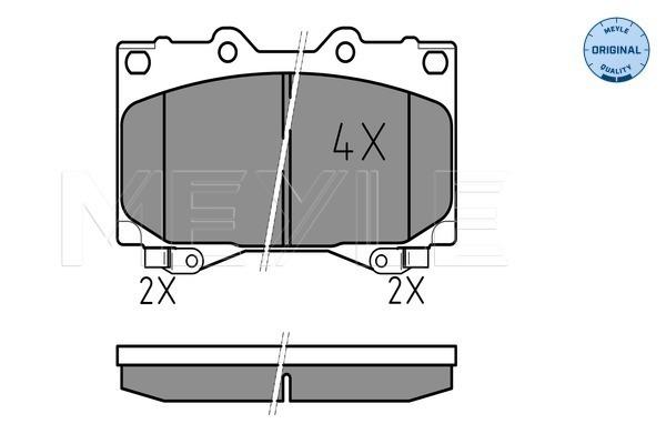 Тормозные колодки передние дисковые MINTEX арт. 025 235 2415/W