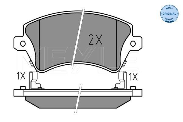 Тормозные колодки дисковые MINTEX арт. 025 237 6617/W
