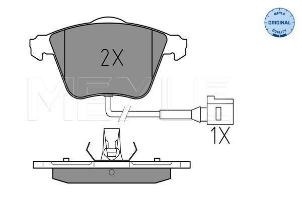 Тормозные колодки дисковые MINTEX арт. 025 238 0120/W