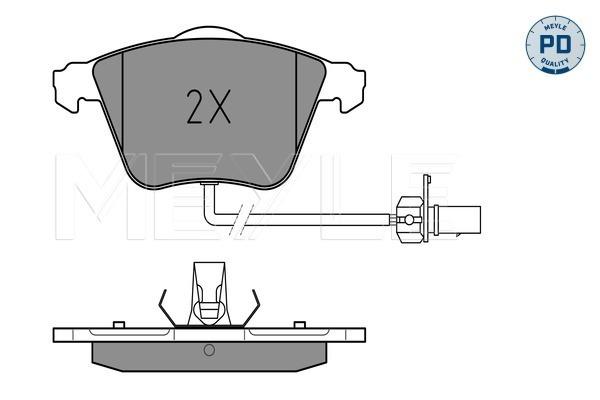 Тормозные колодки дисковые MINTEX арт. 025 239 5020/PD