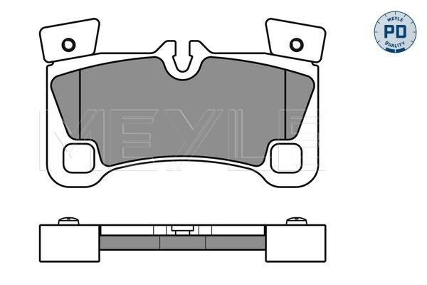Тормозные колодки задние дисковые MINTEX арт. 025 242 9616/PD