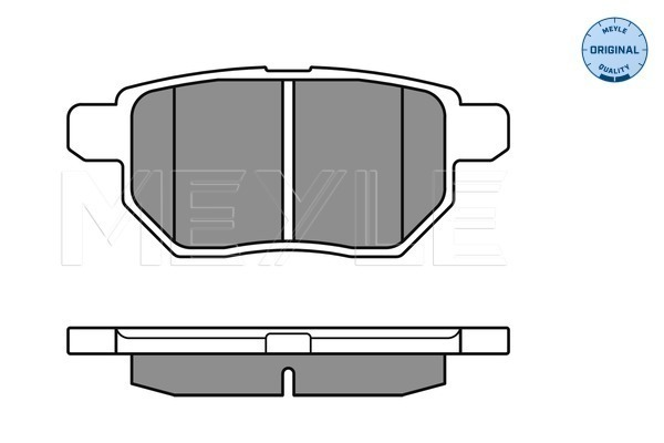 Тормозные колодки задние дисковые MINTEX арт. 025 246 1015/W
