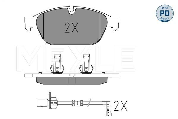 Тормозные колодки передние дисковые MINTEX арт. 0252615820PD