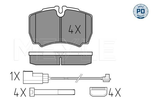 Тормозные колодки дисковые MINTEX арт. 025 291 2320-1/PD