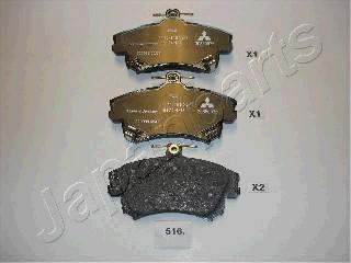 Тормозные колодки дисковые MINTEX арт. PA-516AF