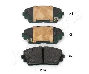 Тормозные колодки дисковые MINTEX арт. PA-K23AF