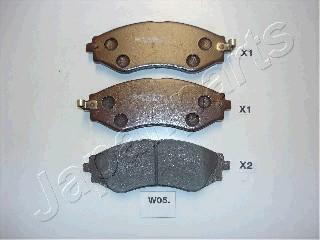 Тормозные колодки дисковые MINTEX арт. PA-W05AF