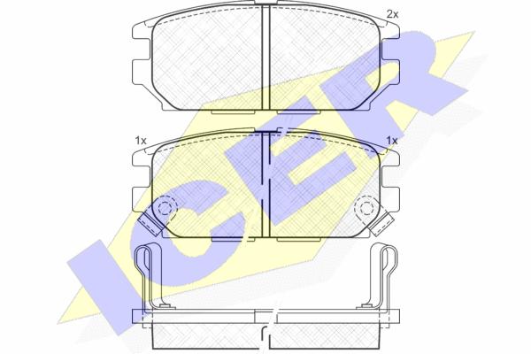 Тормозные колодки задние дисковые MINTEX арт. 140983