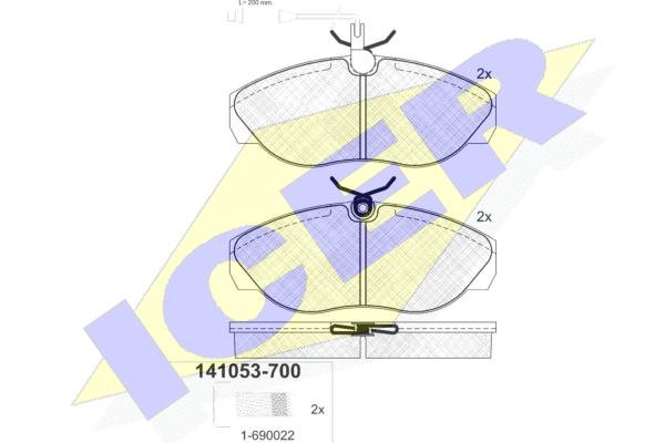 Тормозные колодки передние дисковые MINTEX арт. 141053-700