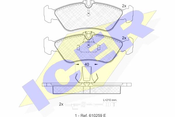 Тормозные колодки задние дисковые MINTEX арт. 141103