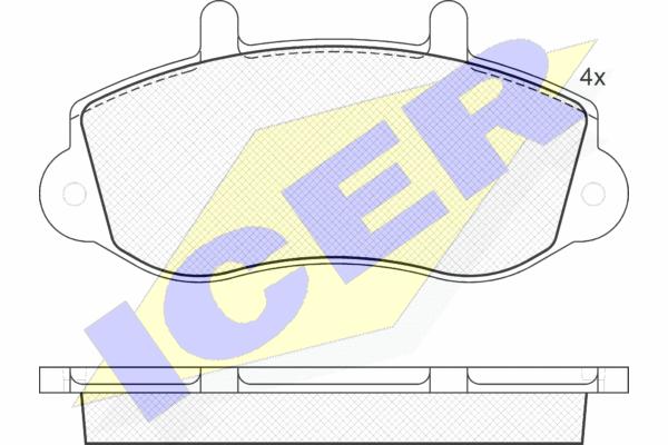 Тормозные колодки передние дисковые MINTEX арт. 141219
