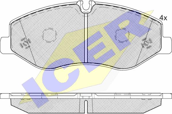 Тормозные колодки дисковые MINTEX арт. 142191