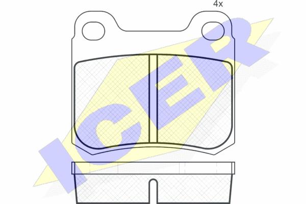 Тормозные колодки задние дисковые MINTEX арт. 180517