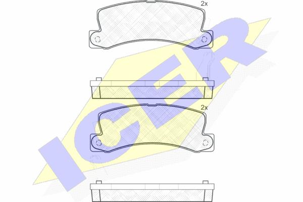 Тормозные колодки задние дисковые MINTEX арт. 180734