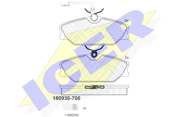 Тормозные колодки передние дисковые MINTEX арт. 180930-700