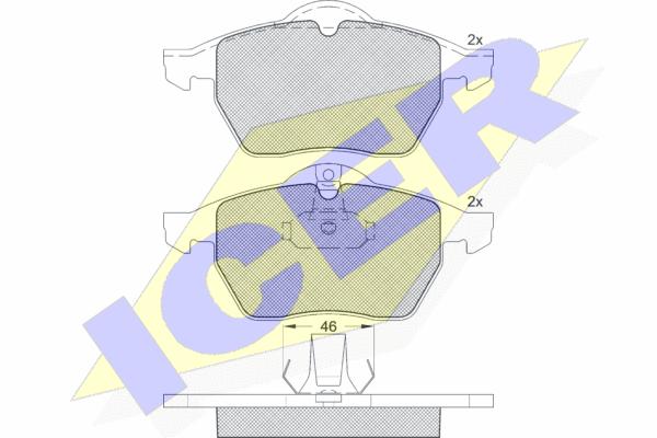 Тормозные колодки передние дисковые MINTEX арт. 181128