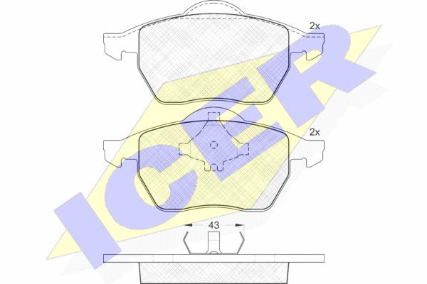 Тормозные колодки дисковые MINTEX арт. 181131