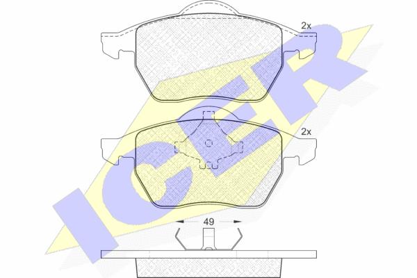 Тормозные колодки дисковые MINTEX арт. 181139