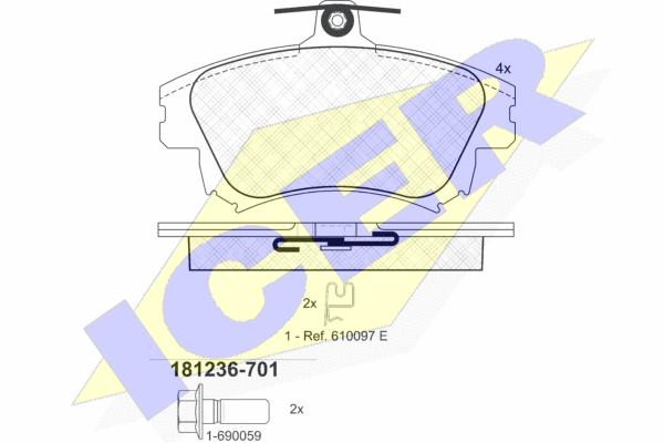 Тормозные колодки дисковые MINTEX арт. 181236-701