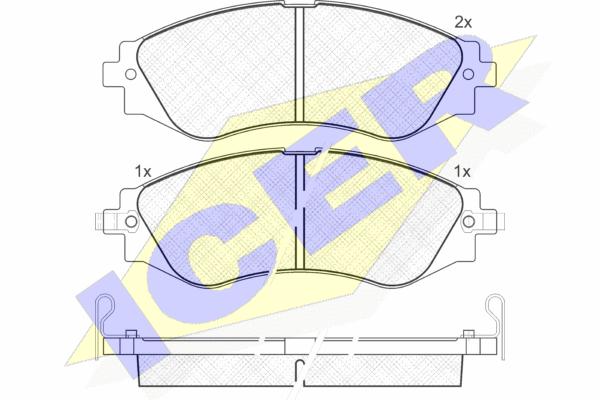 Тормозные колодки передние дисковые MINTEX арт. 181260