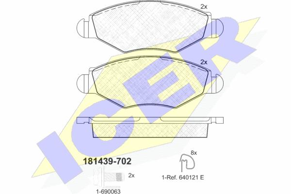 Тормозные колодки дисковые MINTEX арт. 181439-702