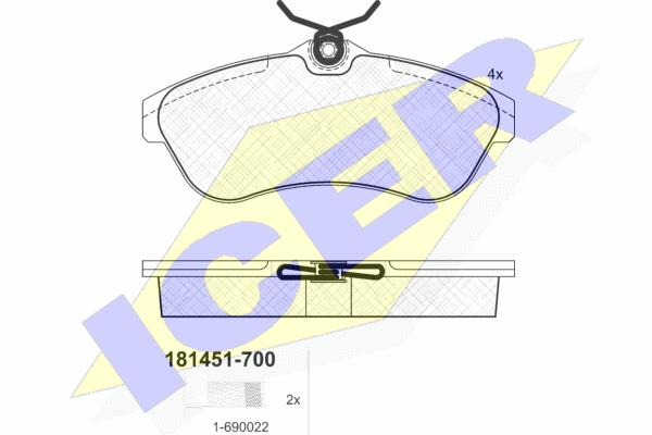 Тормозные колодки передние дисковые MINTEX арт. 181451-700
