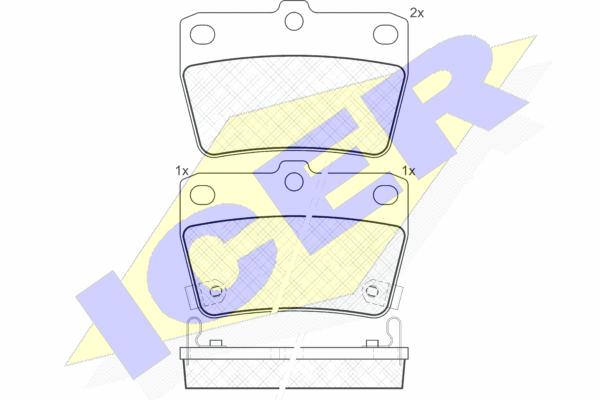 Тормозные колодки задние дисковые MINTEX арт. 181520