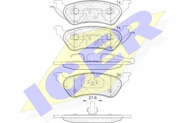 Тормозные колодки дисковые MINTEX арт. 181564