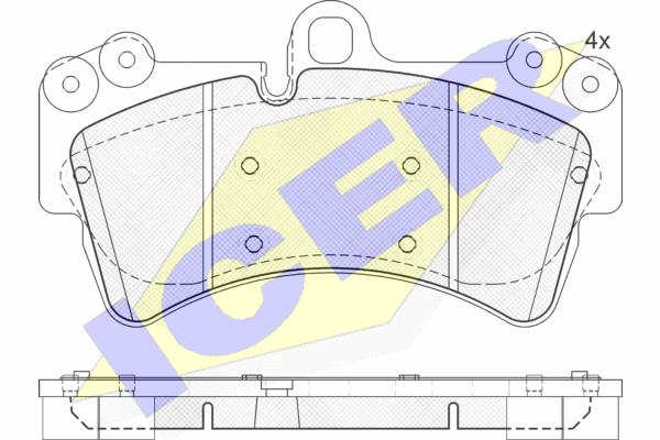 Тормозные колодки передние дисковые MINTEX арт. 181595