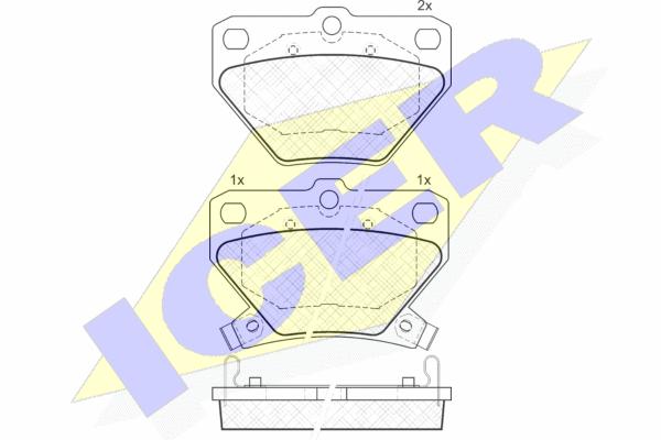 Тормозные колодки дисковые MINTEX арт. 181607