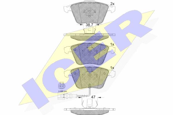 Тормозные колодки дисковые MINTEX арт. 181653