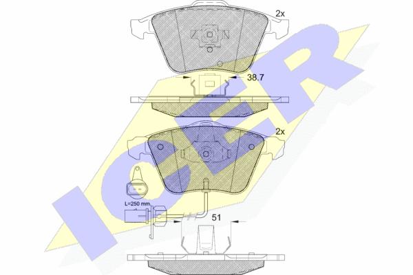 Тормозные колодки дисковые MINTEX арт. 181654