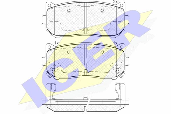 Тормозные колодки задние дисковые MINTEX арт. 181669