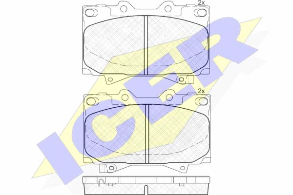 Тормозные колодки дисковые MINTEX арт. 181723