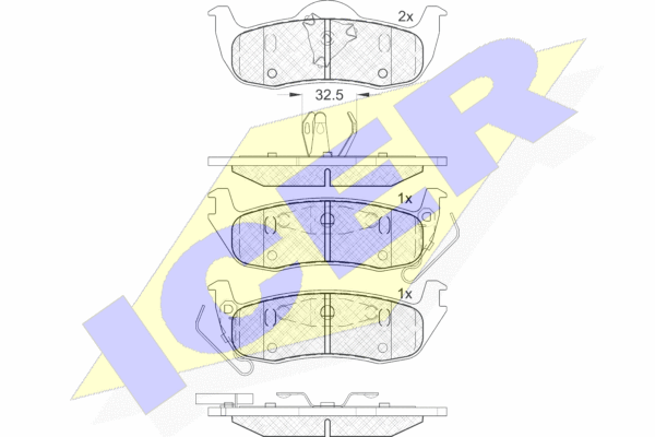 Тормозные колодки дисковые MINTEX арт. 181766
