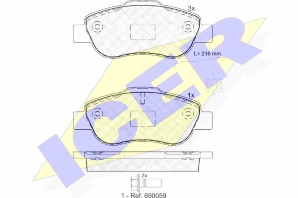 Тормозные колодки дисковые MINTEX арт. 181843
