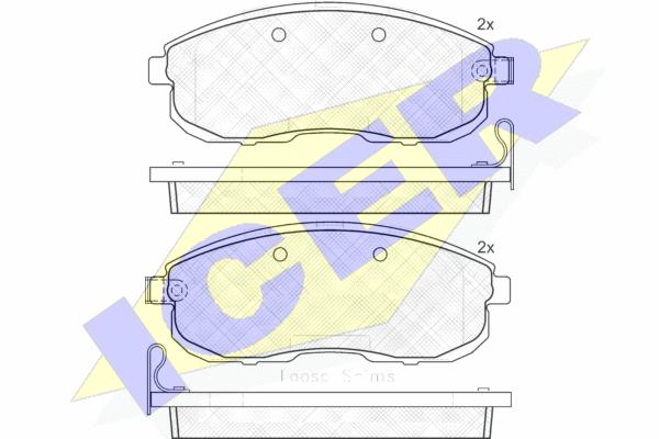 Тормозные колодки передние дисковые MINTEX арт. 181882