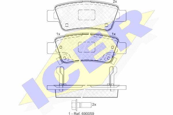 Тормозные колодки задние дисковые MINTEX арт. 181888