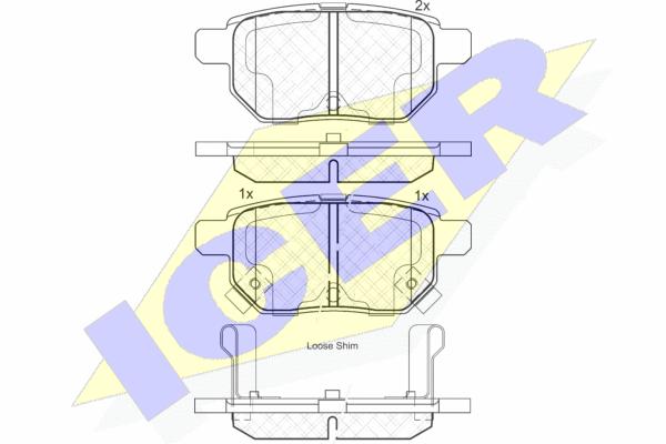 Тормозные колодки задние дисковые MINTEX арт. 181899