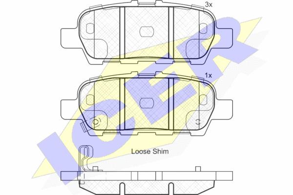 Тормозные колодки задние дисковые MINTEX арт. 181901