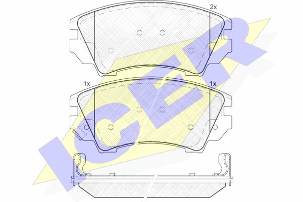 Тормозные колодки передние дисковые MINTEX арт. 181913