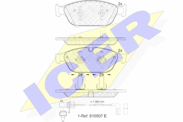 Тормозные колодки дисковые MINTEX арт. 181993