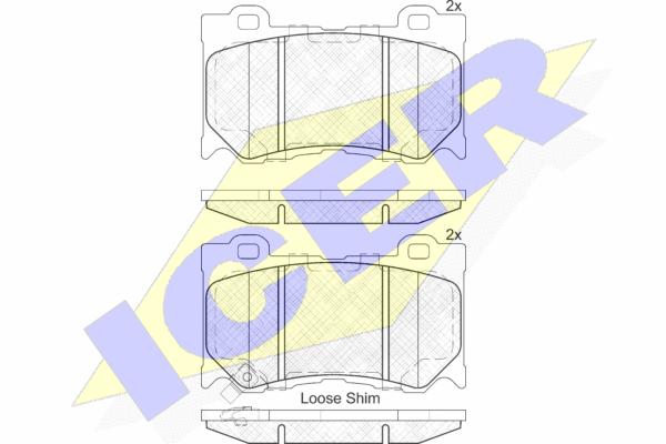 Тормозные колодки передние дисковые MINTEX арт. 182089
