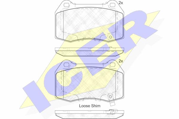 Тормозные колодки дисковые MINTEX арт. 182096