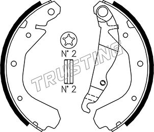 Комплект тормозных колодок MINTEX арт. 073162