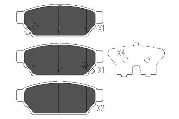 Тормозные колодки задние дисковые MINTEX арт. KBP-5510