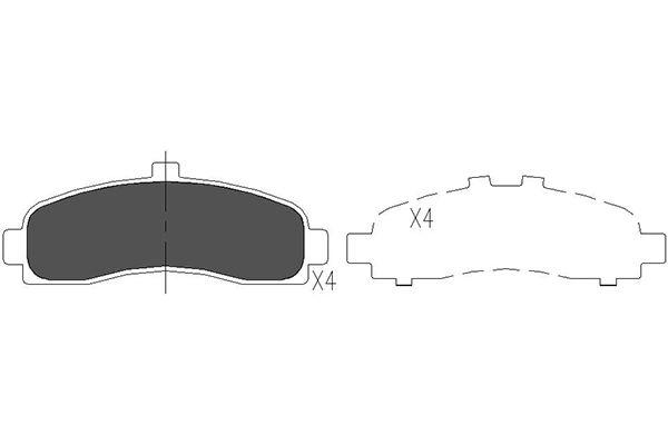 Тормозные колодки передние дисковые MINTEX арт. KBP-6505